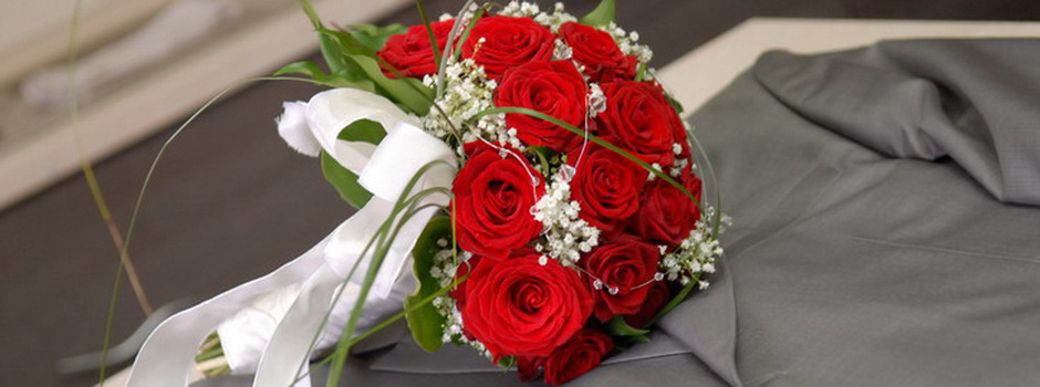 Vjenčani buket - crvene ruže